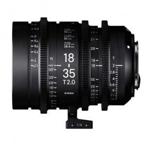 Alquiler de Objetivo zoom Sigma Cine 18-35mm T2